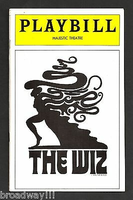 """Stephanie Mills """"THE WIZ"""" Hinton Battle / Ted Ross 1975 Opening Night Playbill"""