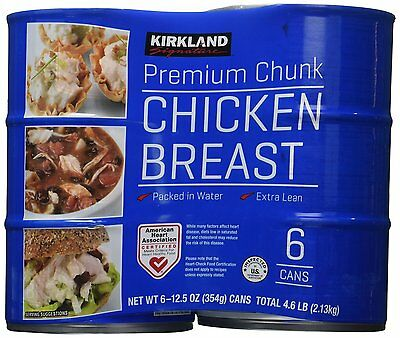 Kirkland Signature Chicken Breast Packed in Water Extra Lean 6-Pack