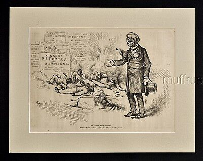 1876 Nigg*rs Murdered In Hamburg S.c. Impudent Nigg*rs Killed In Cold Blood