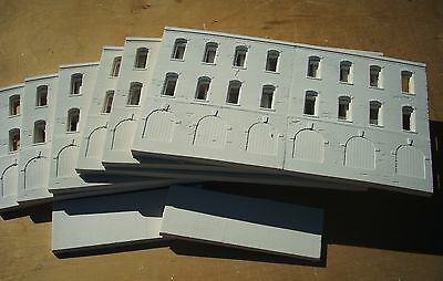Downtown Deco Huge 6' Warehouse Flat HO Scale structure building hydrocal