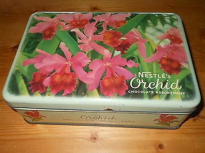 Nestles chocolate assortment Orchid tin old vintage