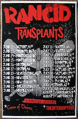 RANCID 2013 Tour POSTER Gig Concert North America Summer