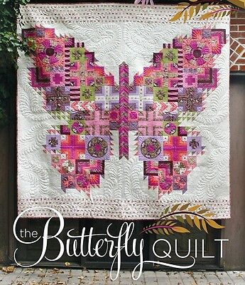 """~ NEW TULA PINK QUILT PATTERN ~ THE BUTTERFLY QUILT ~ 88""""x94"""" ~"""