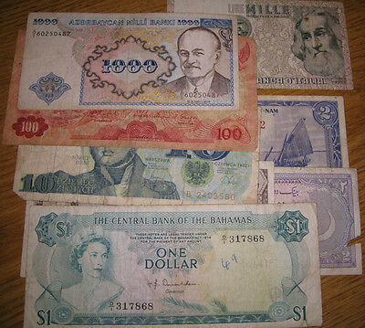 Lot,8 Misc.Foreign/World Banknotes
