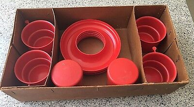 Vintage Retro Nally Red Picnic Set - probably 1950s, with box
