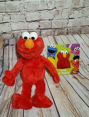 "Sesame Street Elmo 21"" Plush and Clap Your Hands finger puppet board book"