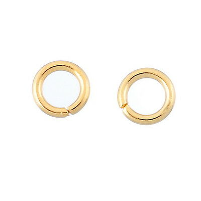 30PCs Stainless Steel Gold Tone Open Jump Rings 5mm