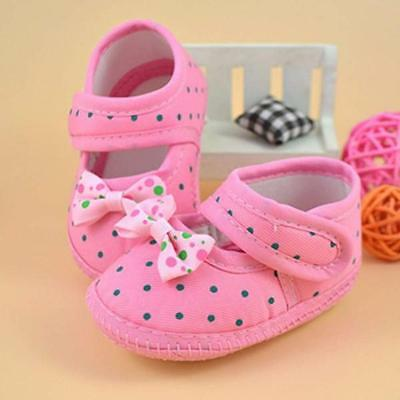 New Cute Baby Toddler shoes Girls Soft Anti-slip Bowknot Boots Crib Shoes Gifts