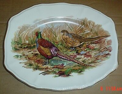 Liverpool Road Pottery Ltd Pheasant Plate Nicely Shaped