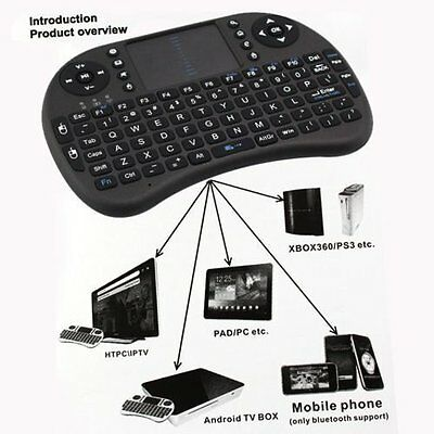 2.4G Wireless Remote Keyboard Mouse Qwerty Touchpad XBMC Android TV BOX PC GYJVT