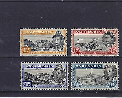 Ascension KGVI 1938-53 perf 13.5 Mounted Mint Collection