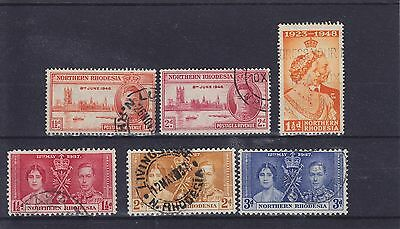 Northern Rhodesia KGVI Omnibus Issues Used Collection
