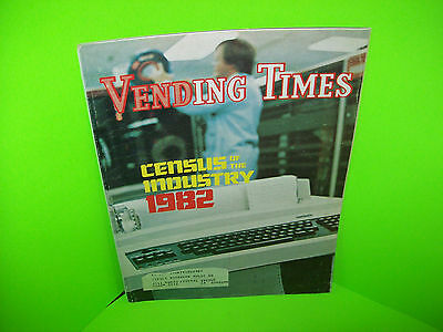 1982 Vending Times Census Of The Industry Vintage Vending Machine Trade Magazine