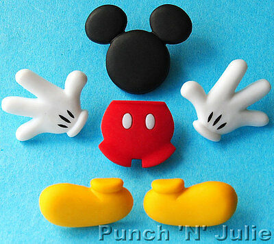 EVERYTHING MICKEY Disney Mouse Ears Children Dress It Up Craft Buttons