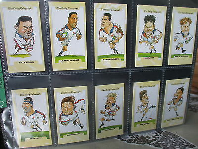 Daily Telegraph**rugby World Cup(England)**set Of 26 Cards
