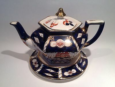 Arthur Wood 'Duchess' Gaudy Welsh Imari Vintage Teapot and Stand