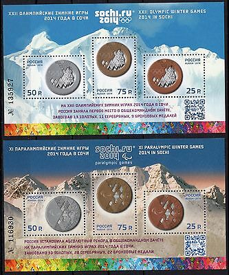 Russia - Sochi - Olympic Games - 2 M/S MNH**