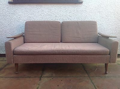 Superb Vintage Retro Mid Century Greaves And Thomas Teak Day Bed Sofabed