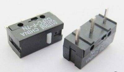 2 x OMRON Micro Switch Genuine D2FC-F-7N 3pin Microswitch  for Mouse - UK FAST