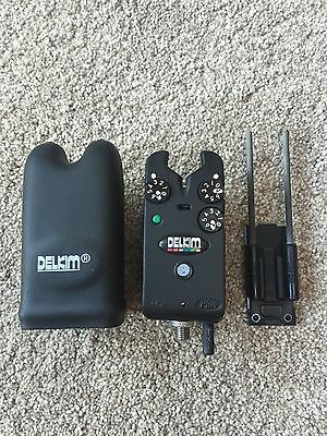 delkim txi plus bite alarm green led great condition carp tackle gear set up