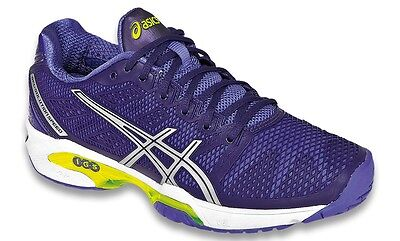 Womens asics GEL-SOLUTION SPEED 2 CLAY Court Tennis Shoes Trainers SIZE UK 8.5