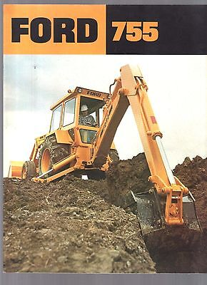 1981 Ford Tractor 755 Industrial Brochure