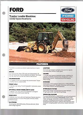 1992 New Holland Ford Tractor 555D Backhoe Loader Sales Brochure