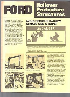 1978 Ford Tractor All Tractors Rollover Rops Sales Brochure