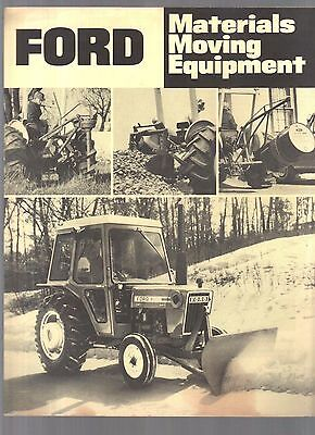 1976 Ford Tractor Material Moving Equipment Brochure