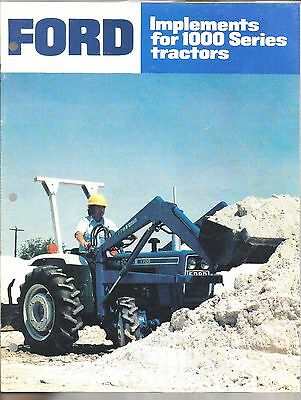 1982 Ford Tractor 1000 Series Implements Utility Equipment Brochure