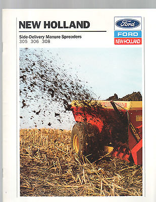 1990 Ford New Holland Tractor Spreader 305 306 308 Brochure