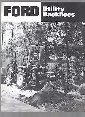1982 Ford Tractor Utility Backhoes Industrial Brochure