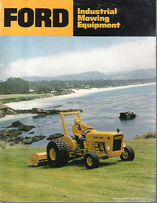 Vintage Ford  Industrial Utility Tractor Mowing Equipment Brochure Full Line