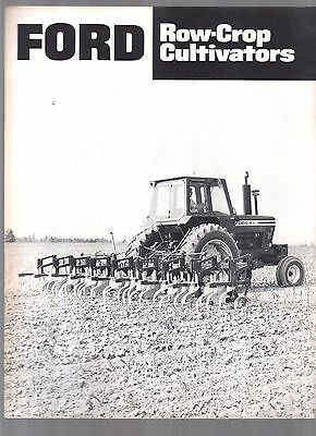 1977 Ford Tractor Crow Crop Cultivators Equipment Brochure