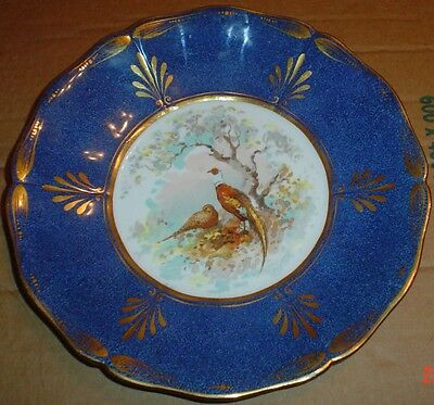 Rare Hukin And Heath Cabinet Collectors Plate Showing A Pair Of Pheasants
