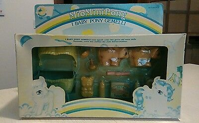 G1 my little pony vintage baby nibbles and dibbles twins Mib in italian language