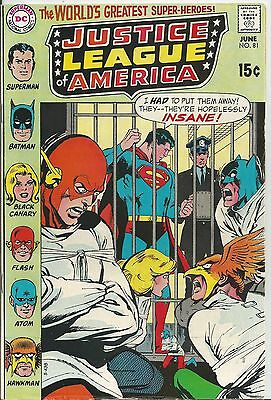 Justice League Of America #81 (1970) F/vf (7.0)