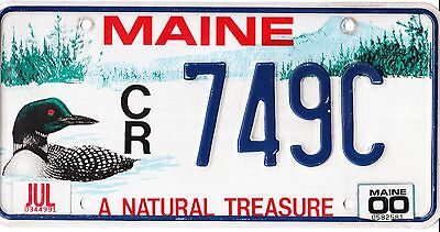 """♥♫‿♫♥ Authentic Usa 2000 Maine Loon License Plate.  """"a Natural Treasure"""""""