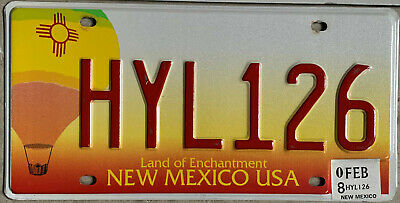 ◕‿◕ AUTHENTIC USA 2000's  NEW MEXICO BALLOON LICENSE PLATE.