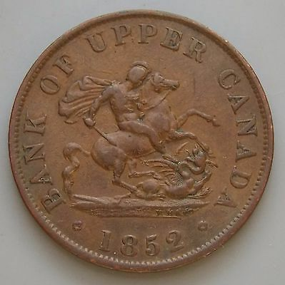 1852 PC-5B1 Province Of Canada Colonial Canadian Bank Of Upper Canada Token