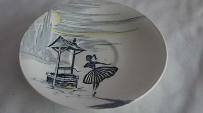 ICONIC J&G MEAKIN WISHING WELL replacement SAUCER GOOD COND 1960s Retro