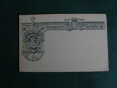 Early Five Hundred Year Centenary Of India Postcard - 1498-1898 - A. Pedrozo.