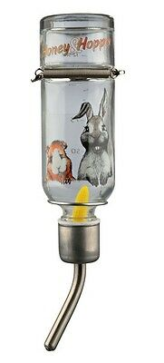 New - Trixie Honey & Hopper Small Animal Glass Water Bottle - 3 Sizes
