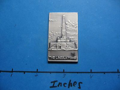 The Lincoln Tomb Illinois Mint 1974 Ultra Rare 999 Silver Bar Only 80 Minted