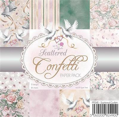 "New Wild Rose PAPER PACK SET 6 X 6"" Scattered Confetti 36 sheet wedding love"