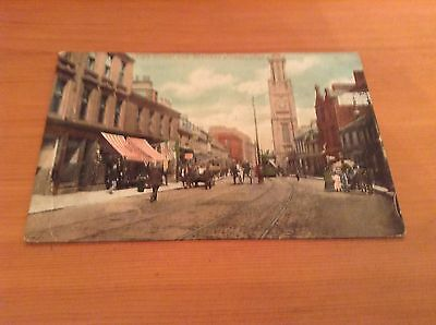 Postcard - High Street and Wallace Tower, Ayr.  1913