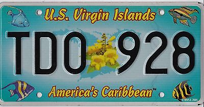 ������  Authentic 2005 Us Virgin Islands License Plate.