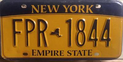 ����������  AUTHENTIC USA 2010's NEW YORK  LICENSE PLATE.
