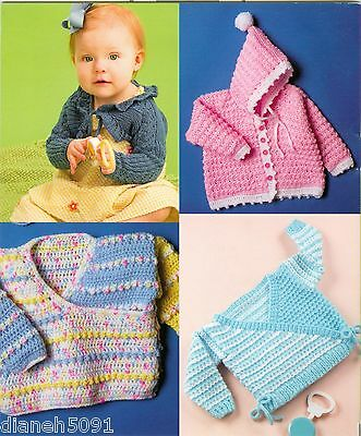 Baby Sweaters Knitting & Crochet Pattern Book Lacy Shrug , Hooded Sweater More