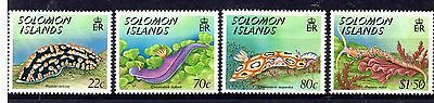 Solomon Islands (869) 1989 Nudibranchs ( Sea Slugs ) set Sg648-51 Lightly mounte